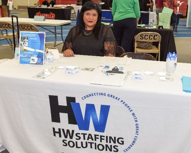 Photo of HW Staffing Solutions at Career Fair