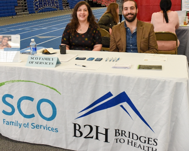 Photo of SCO and Bridges to Health at Career Fair