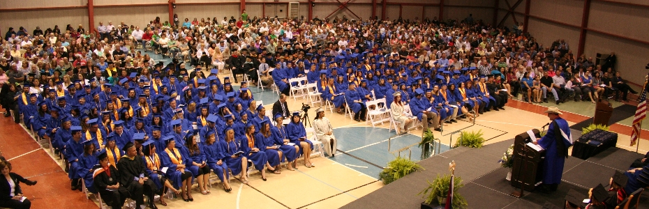 View of Terra State graduation ceremony