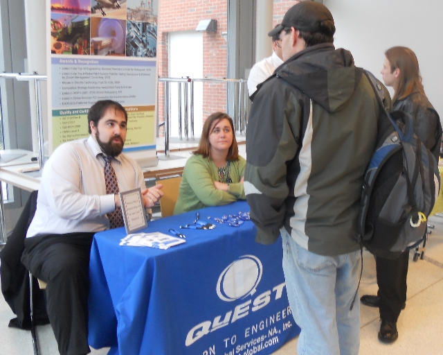 Meet with students interested in technology.