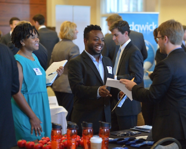 Networking at the Career Expo