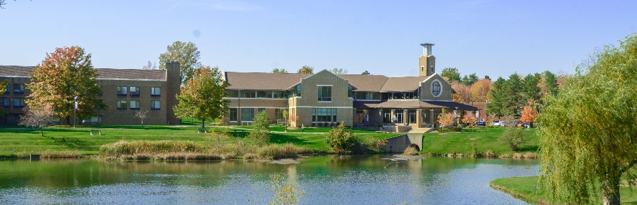 Picture of Ursuline College Campus across Lake Elissa
