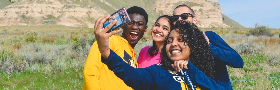 Students Taking a Selfie Outdoors