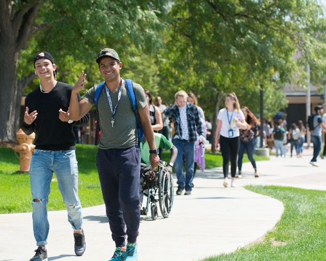 Students Walking On-Campus