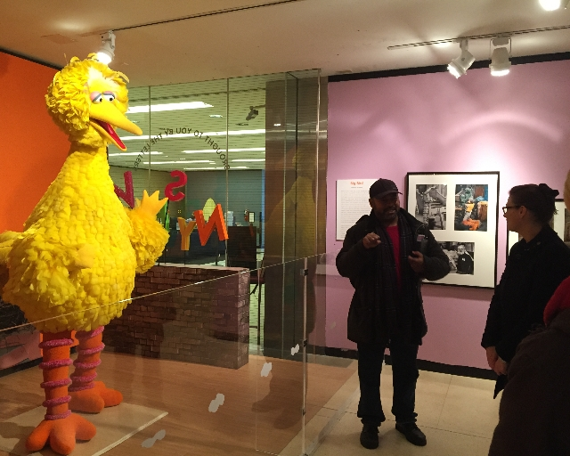 Private tour of NYPL's Sesame Street Exhibition, 2014 (photo cred: Anna Ogier-Bloomer)