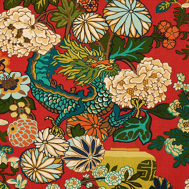 83ecff0f5 CHIANG MAI DRAGON. COLOR: CHINA BLUE TYPE: FABRIC ALSO IN: WALLCOVERINGS