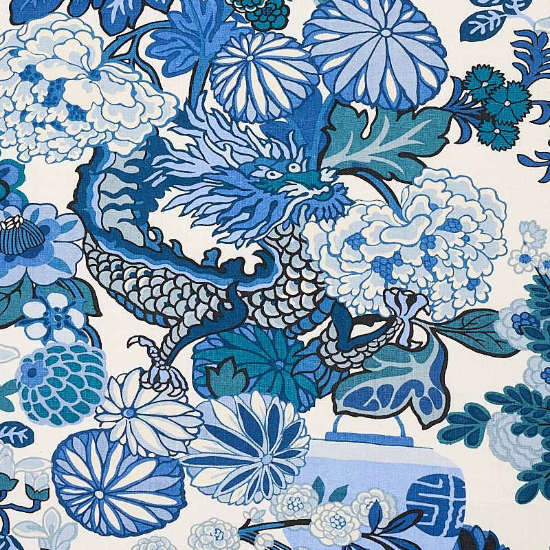8f5b7da3b CHIANG MAI DRAGON. COLOR: CHINA BLUE TYPE: FABRIC ALSO IN: WALLCOVERINGS ·  Download this image · Digital memo