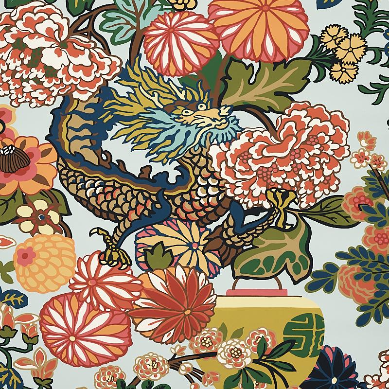 Schumacher Chiang Mai dragon Fabric
