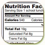 School Nutrition Fact Sheet