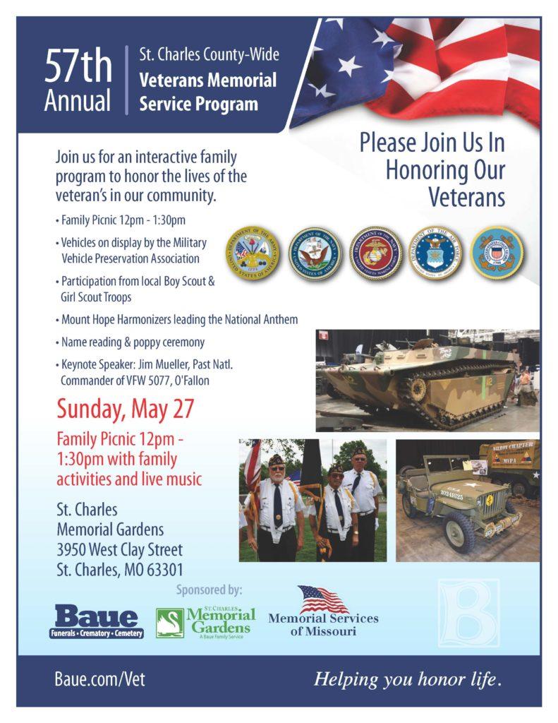 Veterans Memorial Service 2018 - St  Charles Memorial Gardens