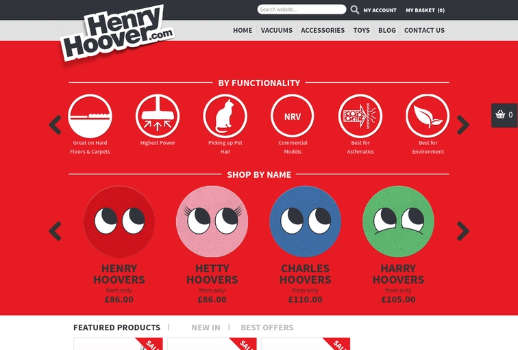 Screenshot of henryhoover.com