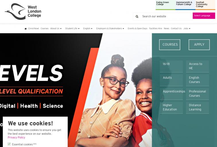 Screenshot of www.wlc.ac.uk