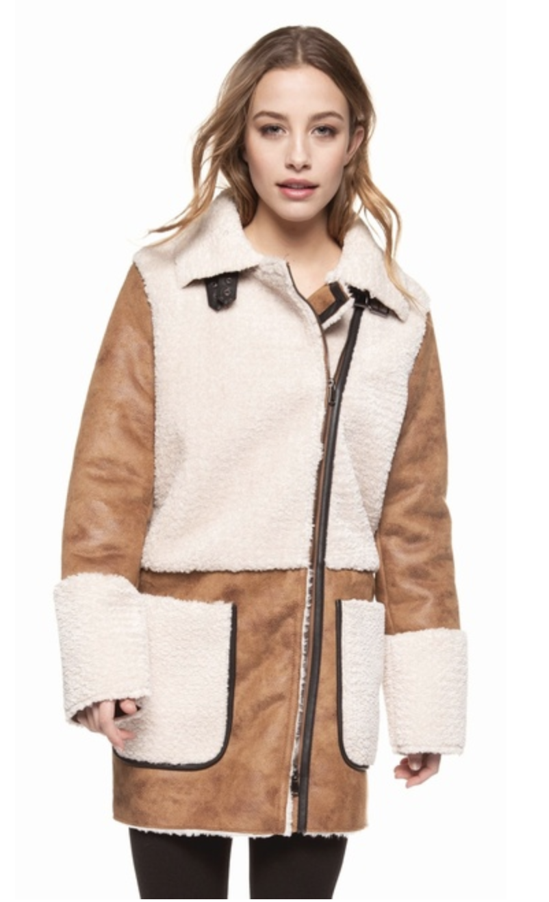 Fur Jacket with Patches