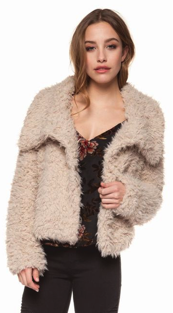 Dex Clothing Amber Fluffy Jacket