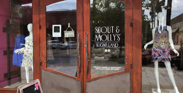 Beautiful front door of Scout and Molly's Sugar Land