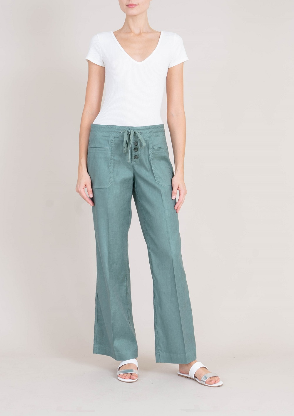 Violet Lounge Linen Pants by Level 99