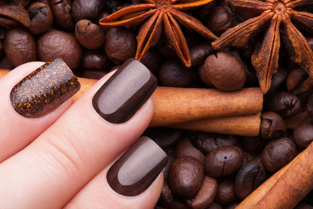 Shimmery Rusty Brown