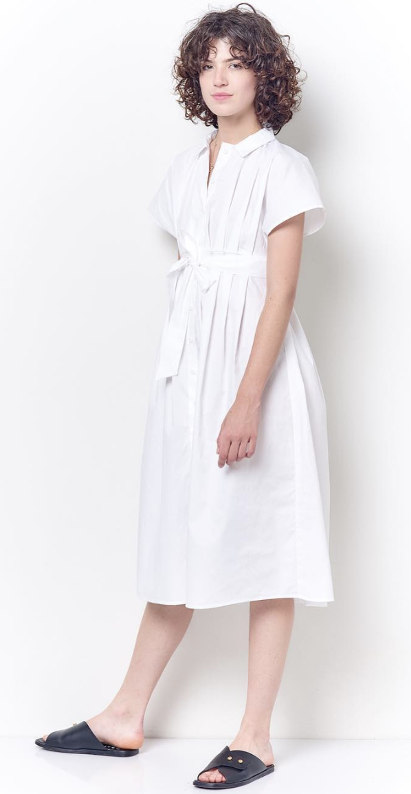 Corey Lynn Calter White Dress with Front Tie