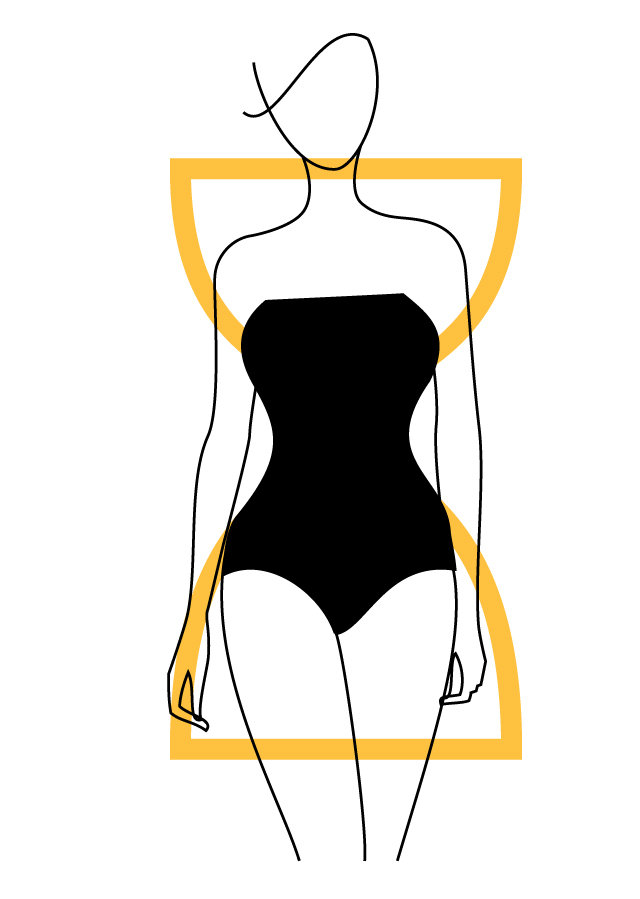 Hourglass-Shaped Body Type