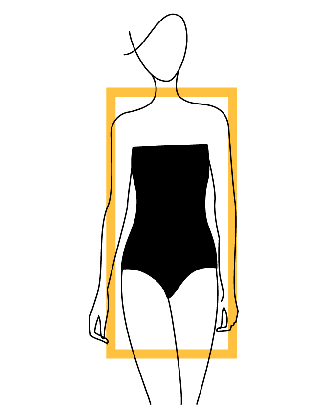 Rectangle or Straight Shape Body Type