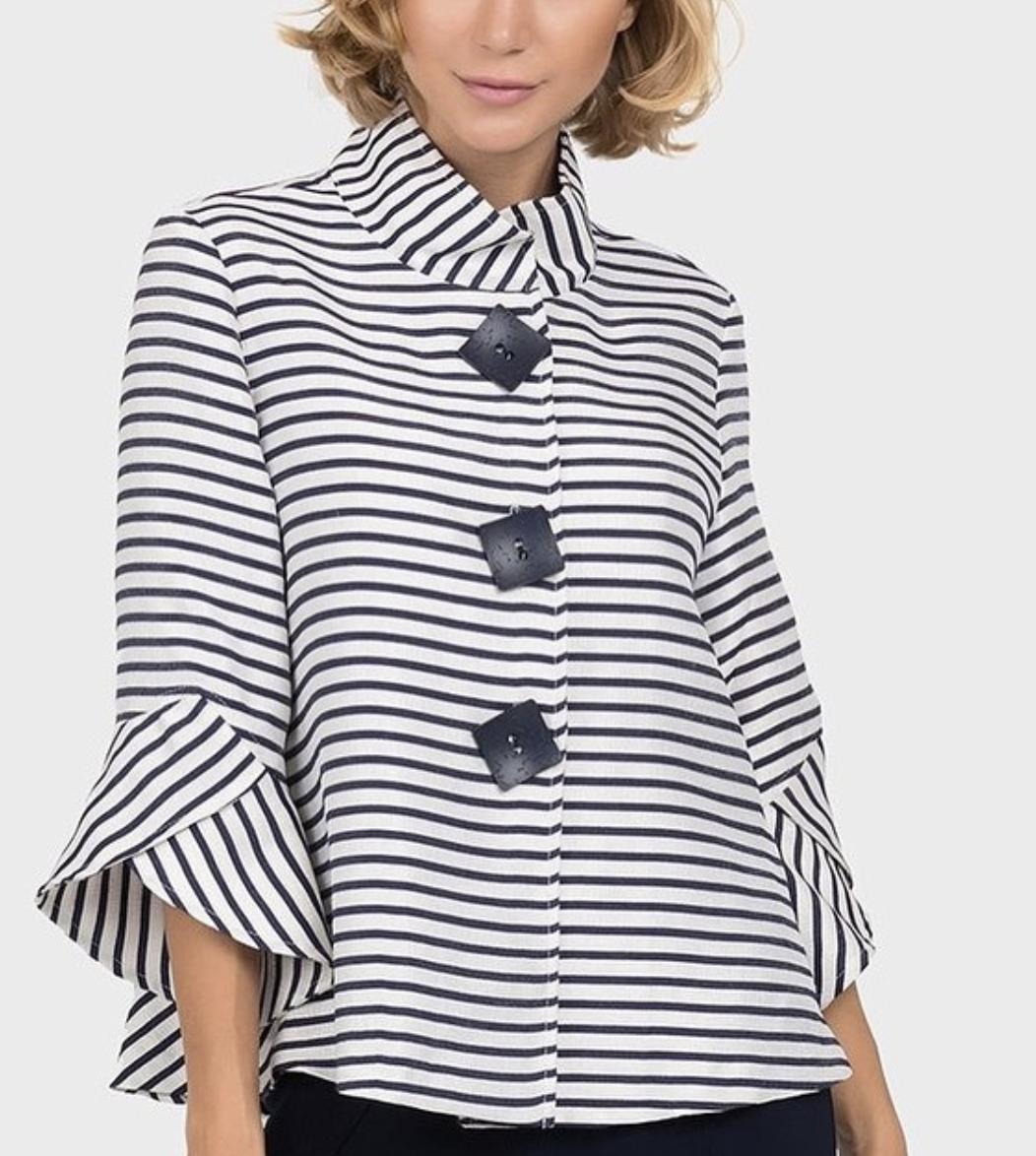 Joseph Ribkoff Black & White Striped Top