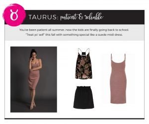 Find Fall 2018 Styles with Your Sign - Taurus