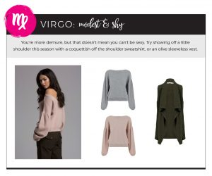 Find Fall 2018 Styles with Your Sign - Virgo