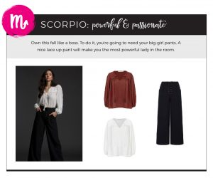 Find Fall 2018 Styles with Your Sign - Scorpio