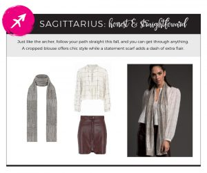 Find Fall 2018 Styles with Your Sign - Sagittarius