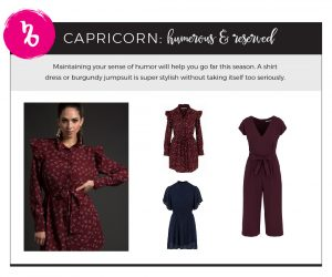 Find Fall 2018 Styles with Your Sign - Capricorn