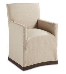Marcel Chair- Khaki linen