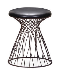 Spike Stool Rusted metal frame & Black