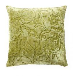 Velvet Matelasse Green Pillow