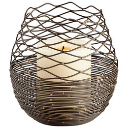 Coiled Silk Candleholder