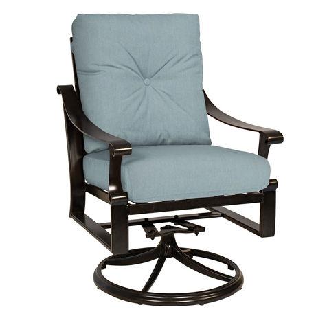 Bungalow Cushion Swivel Rocking Dining Chair Scout Amp Nimble