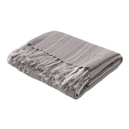 Posy Neutral Gray Throw