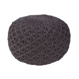 Milford By Rug Republic Dark Gull Gray Pouf