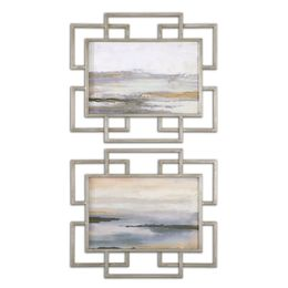Uttermost Gray Mist Framed Art S/2