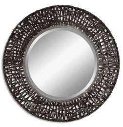 Alita Woven Metal Mirror