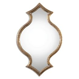 Bagara Antiqued Gold Mirror
