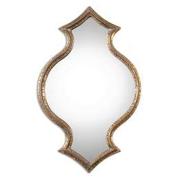 Bagara Antiqued Gold Mirror