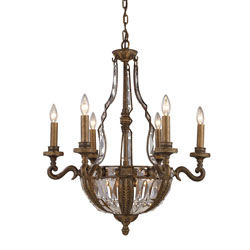 10 Light Chandelier In Antique Bronze
