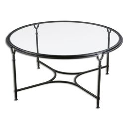 Uttermost Samson Glass Coffee Table