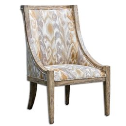 Uttermost Alabaster Driftwood Accent Chair