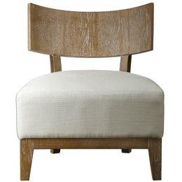 Uttermost Gaige Oak Armless Chair