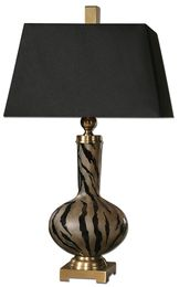Uttermost Amur Modern Smoked Glass Lamp
