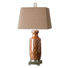 Uttermost Aguilar Rust Red Table Lamp