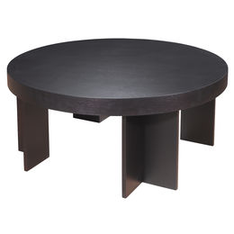 La Jolla Round Cocktail Table in Espresso Finish by Allan Copley Designs