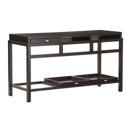 Spats 3-Drawer Rectangular Console Table in Espresso Finish by Allan Copley Designs