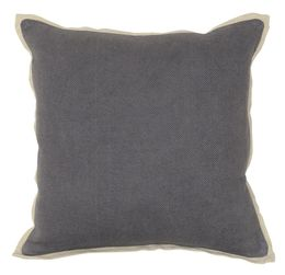 Charcoal Rice Weave Pillow, Set of 2